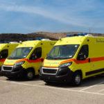 10 Novas ambulâncias para as Divisões Regionais de Saúde da Grécia